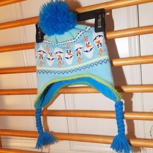 Disney OLAF Nordic Fair Isle Pompom Hat Child 4 5